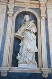 Mafra-Palast - Statue des Heiligen Vincent stockfoto