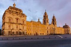 Mafra Portugal, el 21 de junio de 2018 Palacio nacional de Mafra en el pueblo de Mafra cerca de Lisboa Imagen de archivo libre de regalías
