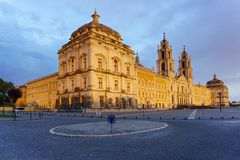 Mafra Portugal, 21 June 2018. National Palace of Mafra in Mafra village near Lisbon. Convent and Basilica of Portugal Stock Image