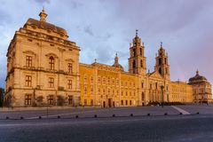 Mafra Portugal, 21 June 2018. National Palace of Mafra in Mafra village near Lisbon. Convent and Basilica of Portugal Royalty Free Stock Image