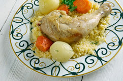 Maftul  chicken couscous Royalty Free Stock Image