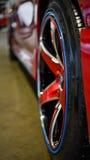 Mag alloy on Toyota new Yaris Stock Photo