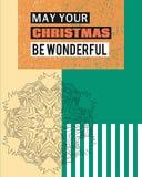 Mag Ihr Weihnachten wunderbar sein lizenzfreie abbildung