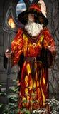 Mag med magisk pinne 01 royaltyfri bild