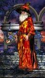 Mag med magisk pinne 03 Royaltyfri Bild