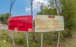 Mag-Mitteilung an der Ebene von Glas-Standort 3 Xiangkhoang-Hochebene stockfotografie
