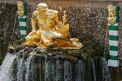 mag Rzeźba Uroczysta kaskada w Peterhof fotografia royalty free