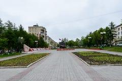 Magada,俄罗斯联邦建筑学  库存图片