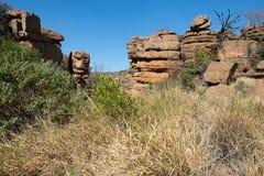 Magaliesberg ojämnt oåtkomligt landskap, Sydafrika Fotografering för Bildbyråer