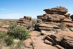 Magaliesberg ojämnt oåtkomligt landskap, Sydafrika Royaltyfria Foton