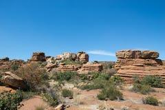 Magaliesberg ojämnt oåtkomligt landskap, Sydafrika Arkivfoto