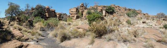 Magaliesberg ojämnt oåtkomligt landskap, Sydafrika Royaltyfri Fotografi