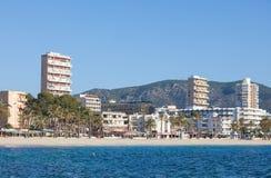 Magalluf Beach Calvia Mallorca Royalty Free Stock Photos