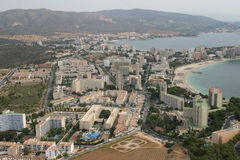 Magaluf aerial 005 Stock Photography