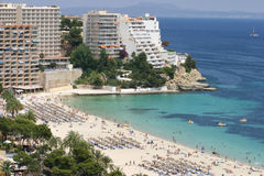 Magaluf beach during summer Stock Image