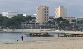 Magaluf beach during winter Royalty Free Stock Image