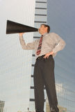 Magaphone Man Royalty Free Stock Images