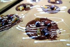 Magasin av hemlagade choklader Arkivfoto