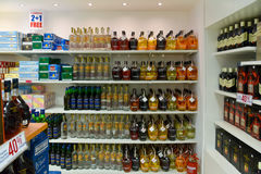 Magasin d'alcool et de liqour Images stock