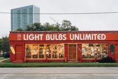 Magasin d'ampoule dans Montrose, Houston, le Texas photo stock