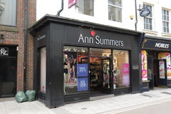 Magasin d'Ann Summers Photo stock
