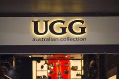 Magasin d'Ugg Photos libres de droits