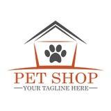 Magasin de bêtes Logo Template Design Image stock