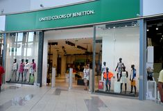 Magasin de Benetton à Bratislava Image libre de droits