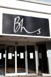 Magasin de BHS fermé vers le bas Images stock