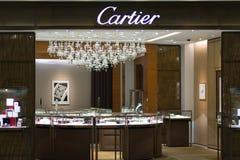 Magasin de Cartier à l'aéroport international de Suvarnabhumi, Bangkok, Thaïlande Fin vers le haut Image stock