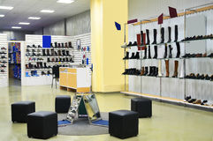 Magasin de chaussures Photographie stock