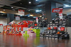 Magasin de chaussures Image stock