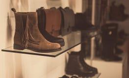 Magasin de chaussures Photo libre de droits