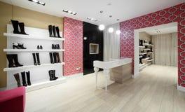 Magasin de chaussures européen de luxe Image stock