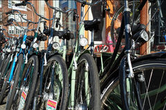 Magasin de cycles à Copenhague Image stock