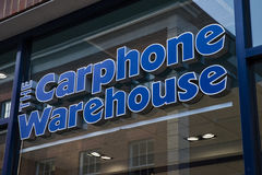 Magasin de détail de Carphone Warehouse photographie stock