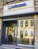 Magasin de détail de Swisscom Communications Photos stock
