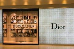 Magasin de Dior dans l'aéroport de Suvarnabhumi, Bangkok Images stock