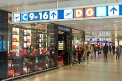 Magasin de Dolce et de Gabbana à l'aéroport de Fiumicino à Rome Photo stock