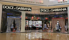 Magasin de Dolce et de Gabbana Photographie stock libre de droits