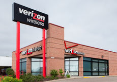 Magasin de détail de Verizon Wireless Images libres de droits