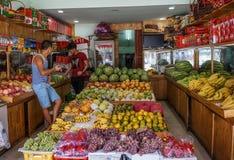 Magasin de fruit à Chengdu, Chine photographie stock libre de droits