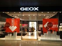 Magasin de Geox Images libres de droits