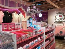 Magasin de Hello Kitty en mail de Siam Square One, Bangkok images stock