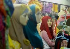 Magasin de Hijab Photographie stock