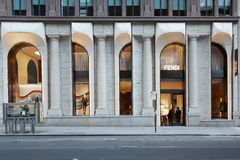 Magasin de luxe de Fendi en Madison Avenue, à New York Photo libre de droits