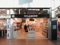 Magasin de marque de Moleskine Photo libre de droits