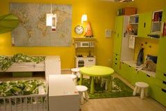 Magasin de meubles de la pièce de l'enfant photos libres de droits