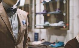 Magasin de mode d'hommes Photographie stock libre de droits