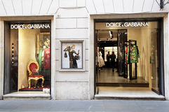 Magasin de mode de Dolce et de Gabbana Image libre de droits